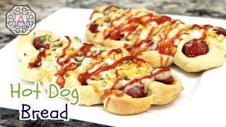 Fusion Food Korean Style Hot Dog Bread