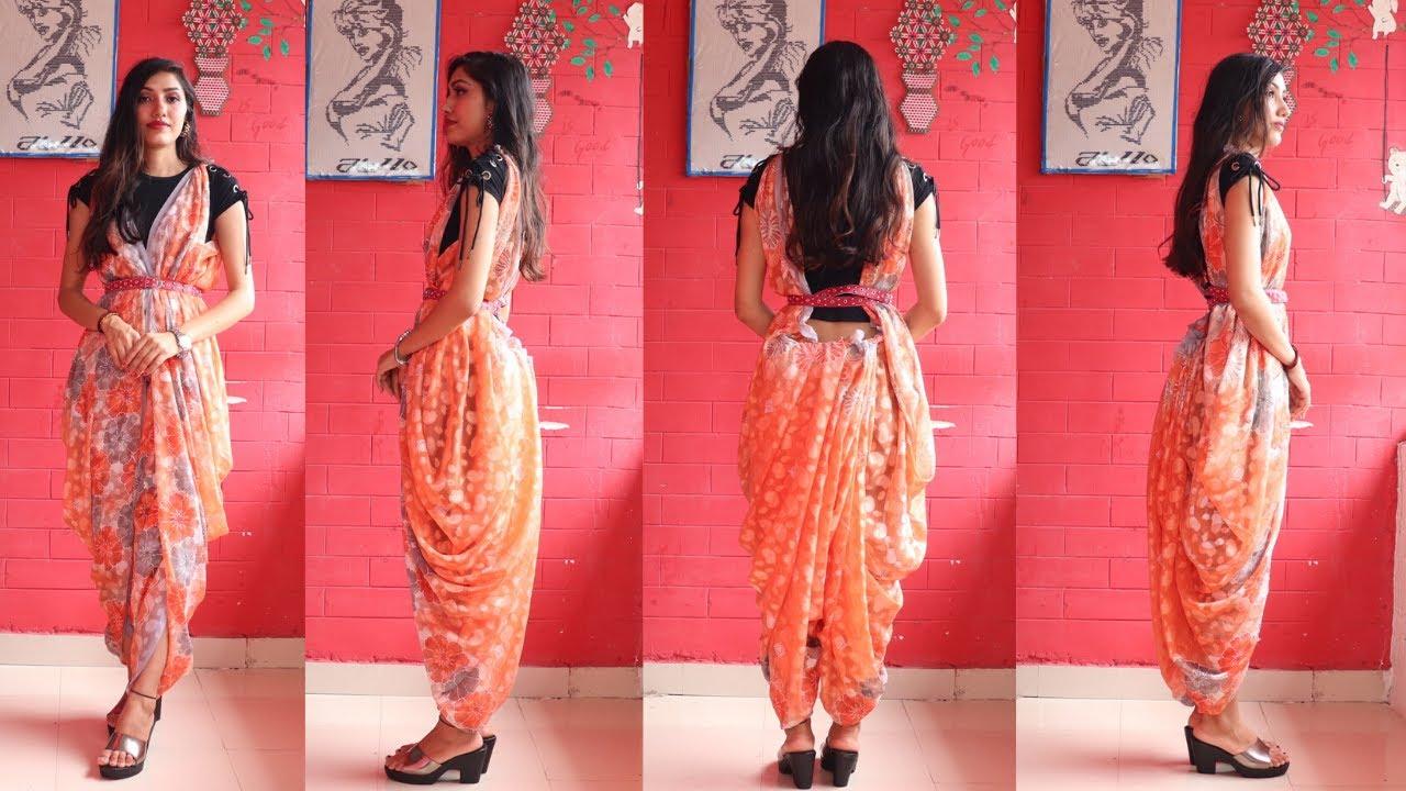 How to Wear Patiala saree Dress