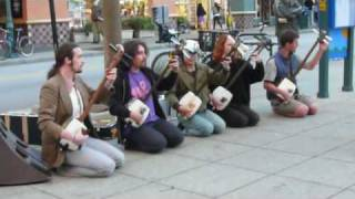 The Shamisen 5 - Busking on the mall