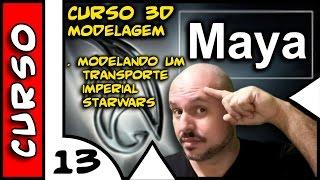 Curso de Maya 3D #13 Modelando um Transporte Imperial StarWars . 4TechShow
