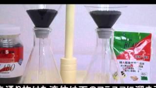 活性炭BLABO/BLAST 薬品色素吸着実験