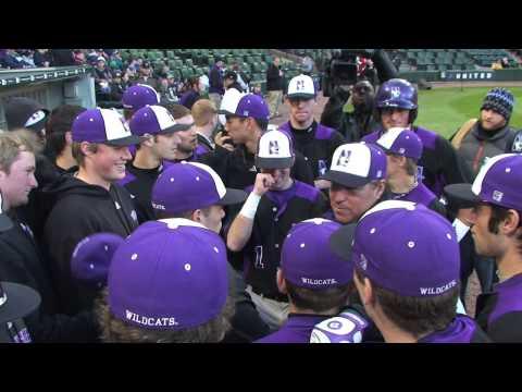 Northwestern Baseball Hits U.S. Cellular Field