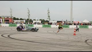 Milli atlet spor otomobille yarıştı, birinci oldu