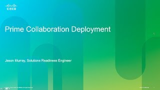 Installation and Configuration of Prime Collaboration Deployment (PCD) v10.0