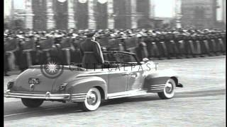 New Soviet Leadership, following death of Stalin, makes public appearance in Red ...HD Stock Footage