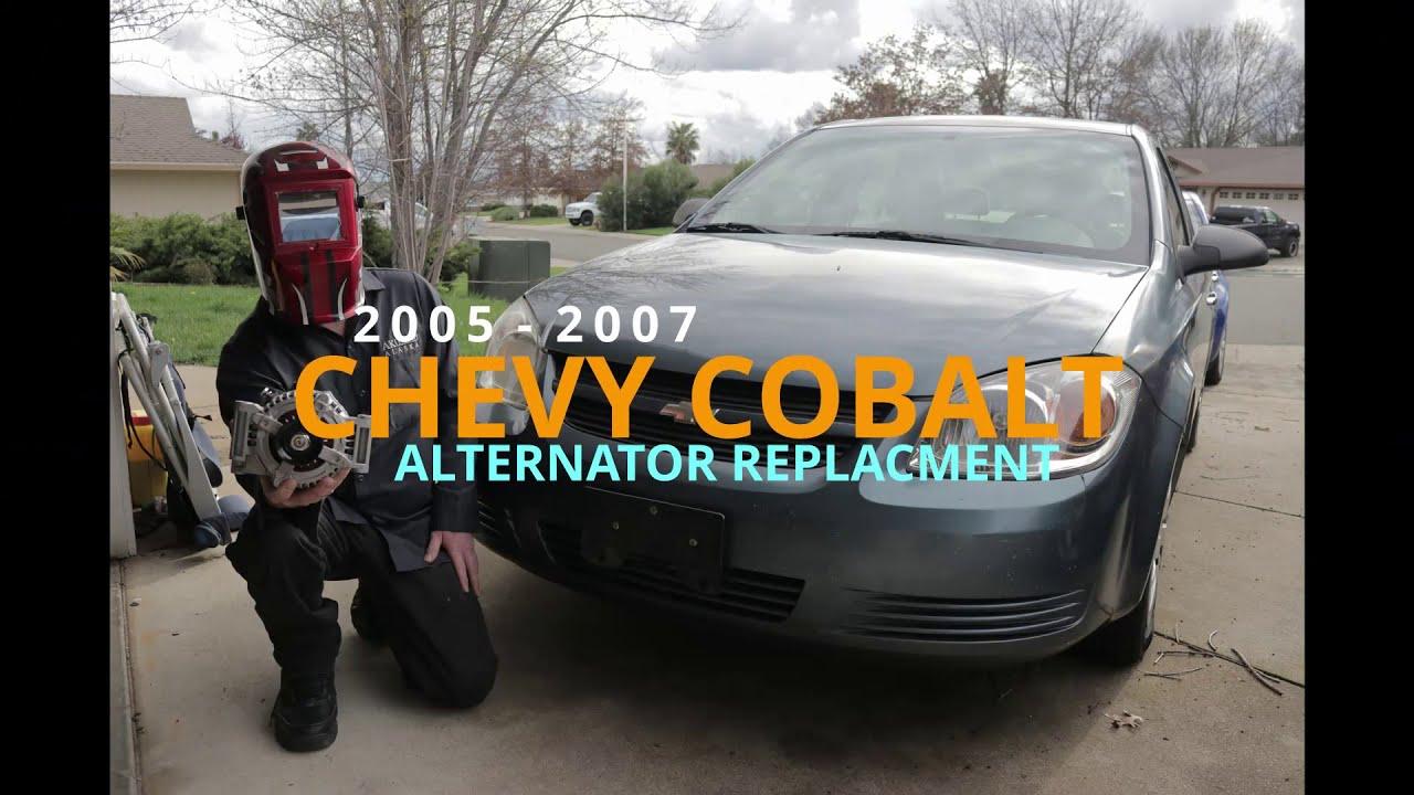 2005 2007 Chevy Cobalt Pontiac G5 Saturn Ion Alternator Replacement Youtube