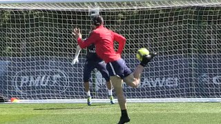 Zlatan Ibrahimovic Scores Outstanding Back-Heel Finish In PSG Training