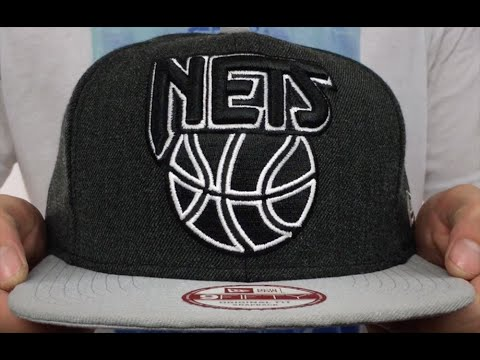 hot sale online 64909 e450a Brooklyn Nets LOGO GRAND SNAPBACK Charcoal-Grey Hat