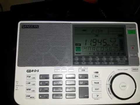 Radio Free Asia 11945 Khz Sangean ATS-909x + Sony AN-LP1 desde Mendoza (ARG)