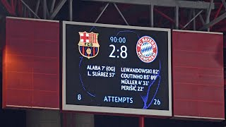 Thanks to a majestic performance, fc bayern beat barcelona 8-2 in the quarter-finals of champions league and secured their ticket semi-finals l...
