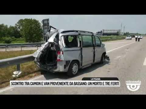 TG BASSANO (19/06/2019) - SCONTRO TRA CAMION E VAN...