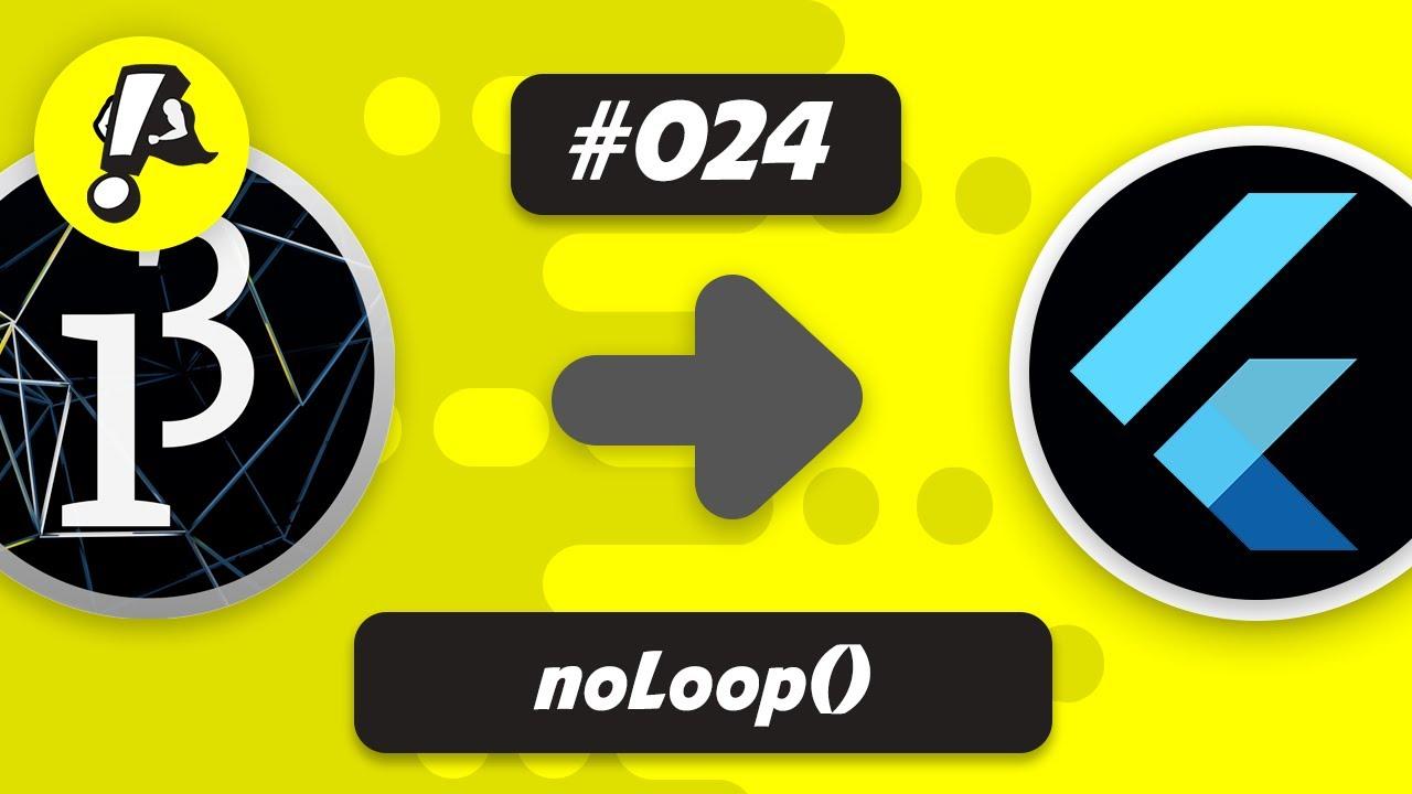 Flutter Processing - noLoop() | Ep. 024