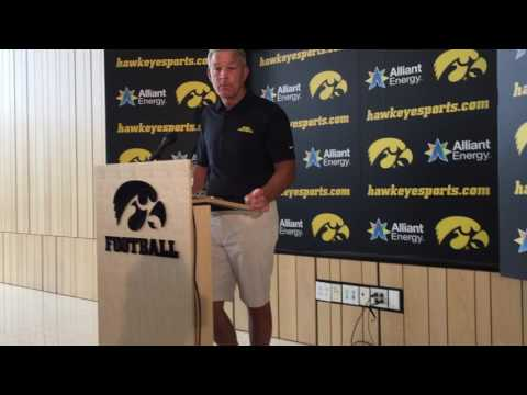 Iowa coach Kirk Ferentz on James Butler