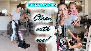 EXTREME CLEAN WITH ME! | ALL DAY CLEANING MOTIVATION | Bissell Clean View Vacuum