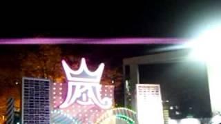 東京ドームのオブジェです。 色がメンバーのイメージカラーに移り変わっ...