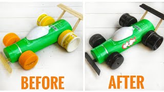 HOW TO MAKE RACE CAR FROM SHAMPOO BOTTLE | MOBIL BALAP DARI BOTOL BEKAS SHAMPO