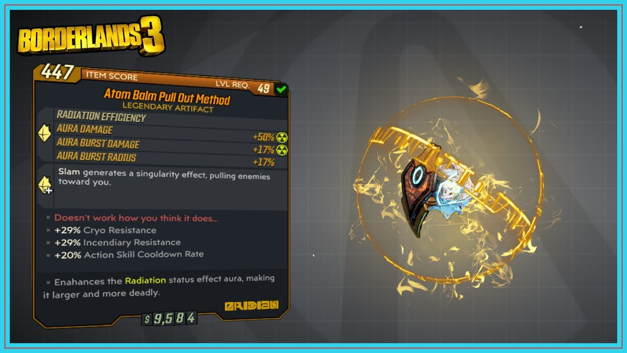 Pull Out Method Overview   Borderlands 20   Legendary Artifact