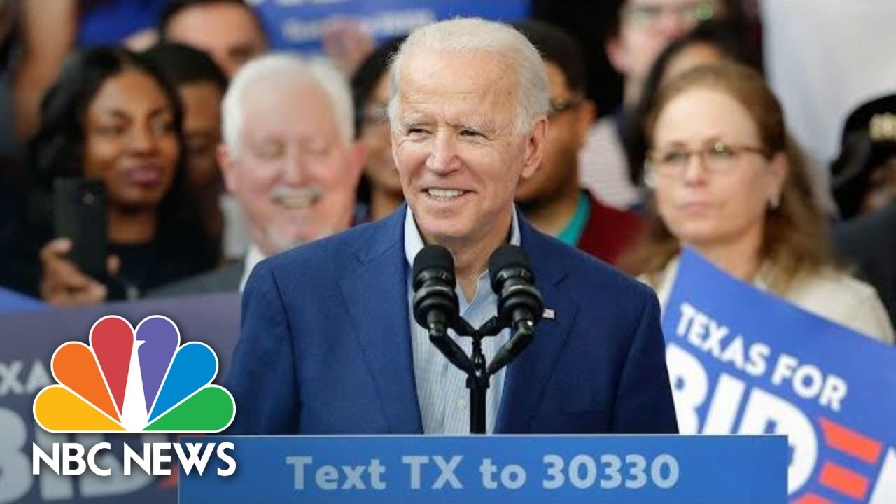 Biden Holds Rally With Klobuchar On Eve Of Super Tuesday   NBC News (Live Stream Recording)