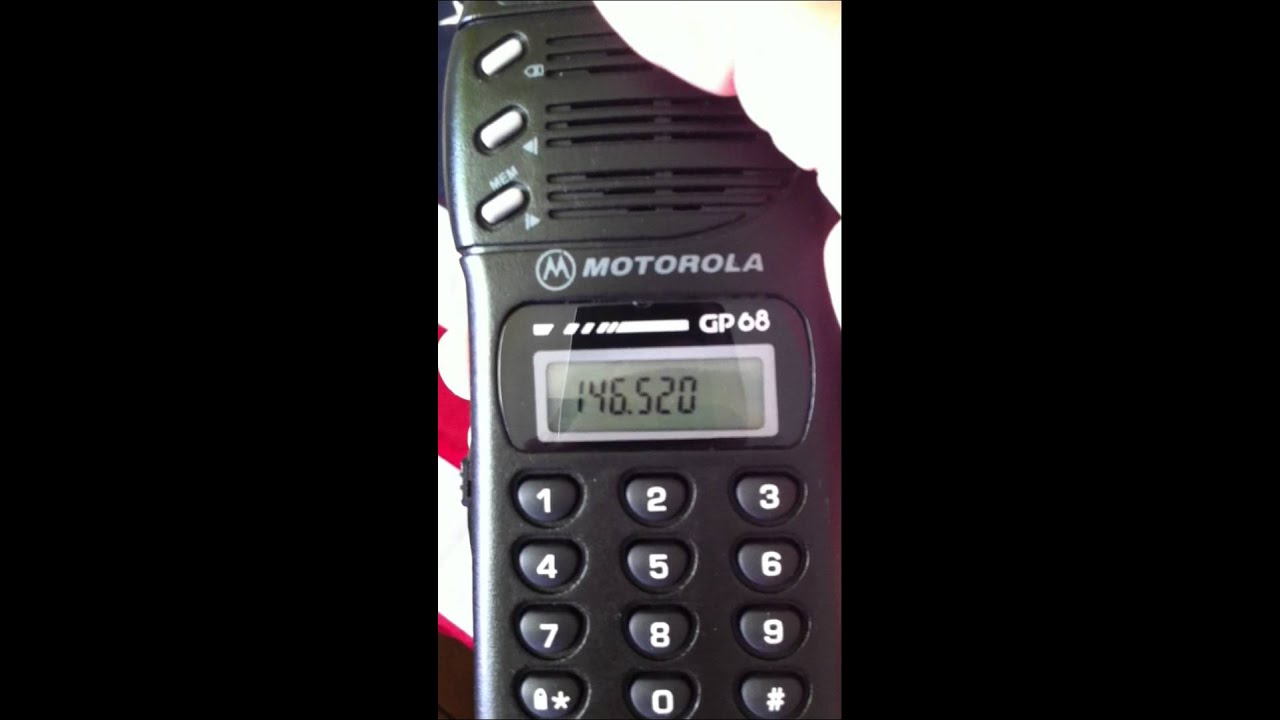 motorola gp68 vhf overview