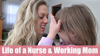 First Week of my First Nursing Job! | Day in the Life of a Working Mom & New Grad RN Vlog
