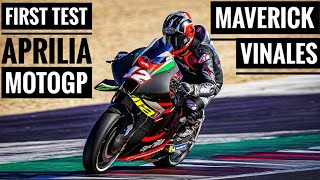 Maverick Vinales First Test With Aprilia RS-GP in Misano MotoGP Private Test