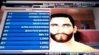 wwe svr2011 PS2 How to create Seth Rollins WM34 new caw