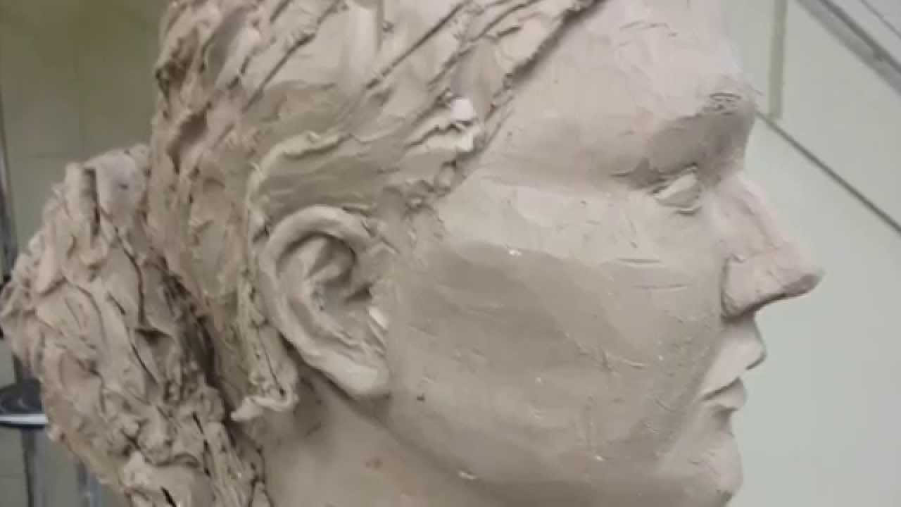 Plaster Head Project for Sculpture 1 - YouTube