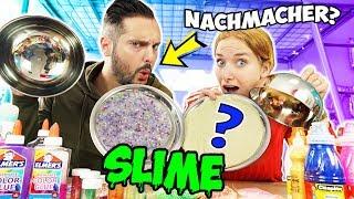 NACHMACHER SLIME CHALLENGE Wer kann Kathis Slime nachmachen & wird zum Schleimexperten? Nina vs Kaan