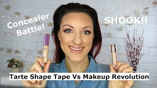 Makeup Revolution concealer Vs Tarte Shape Tape
