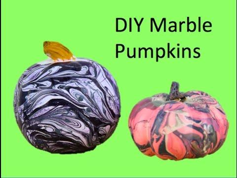 0fb03f2714828f DIY Marble Pumpkins - YouTube