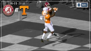 Alabama vs. Tennessee 2018: Tua Tosses Four Touchdowns