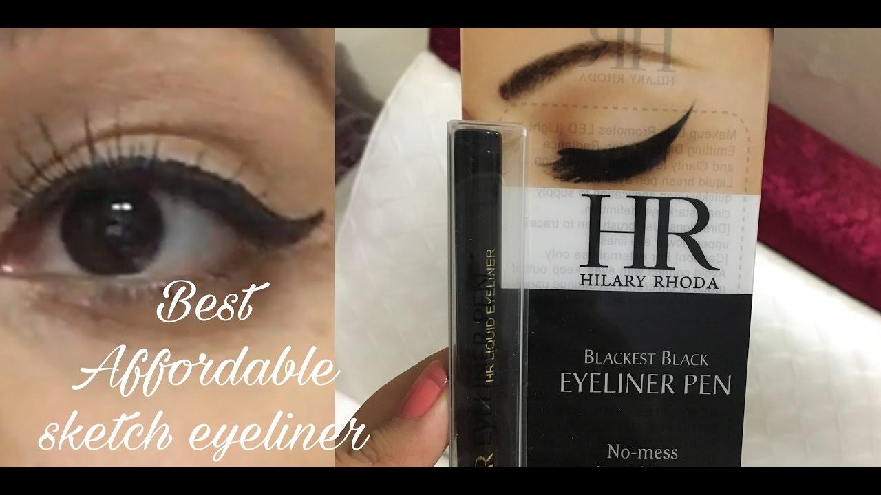 Best Affordable Sketch Eyeliner India Hilary Rhoda Matte Look