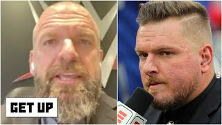 "Pat mcafee responds: https://youtu.be/ypfvqystx_8paul ""triple h"" levesque challenges to take on adam cole at wwe nxt takeover xxx august 22nd. ..."