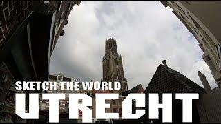 Beautiful Utrecht - Sketching drawing Utecht Netherlands - Sketch the World