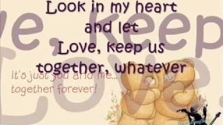 love will keep us together - Sarah G. (lyrics)