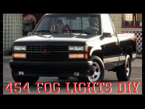 88 98 Gmc Sierra Chevy Silverado Gmt400 Obs Foglight Diy Installation Youtube