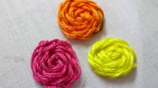 Hand Embroidery Flower Stitching By Amma Arts