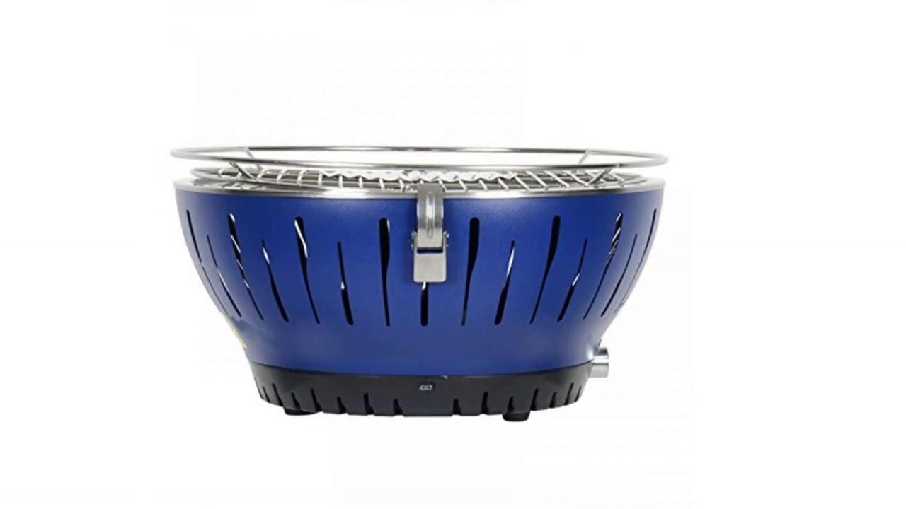 Azuma Portable Tabletop Barbecue Grill Blue Ventilated ...