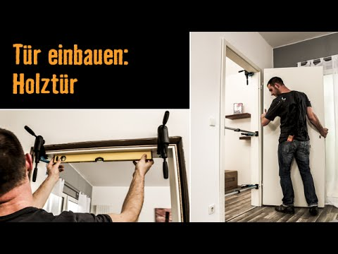 t r einbauen holzt r hornbach meisterschmiede youtube. Black Bedroom Furniture Sets. Home Design Ideas