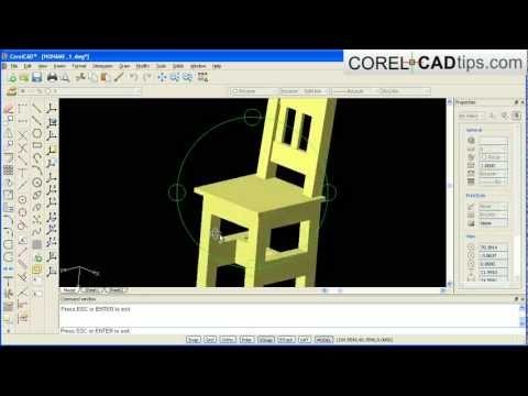CorelCAD – creating a chair demo