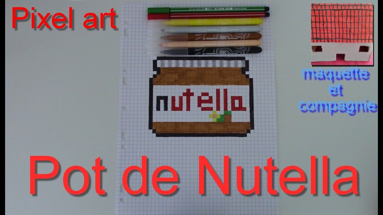 Tuto Comment Faire Un Pot De Nutella En Pixel Art 11
