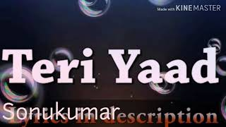 √ DJ REMIX -TERI YAAD HAI/ HIMESH RESHAMMIYA(Movie-SURROR)-DJ SONG
