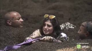 """رد فعل منه فضالي بعد اكتشافها المقلب فى """"رامز تحت الأرض"""""""