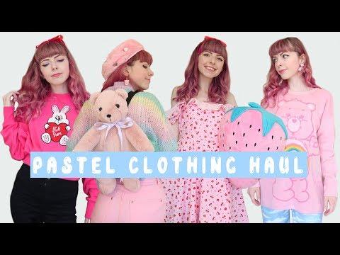 Huge Pastel Clothing Haul Topshop Lazy Oaf Bonne Chance