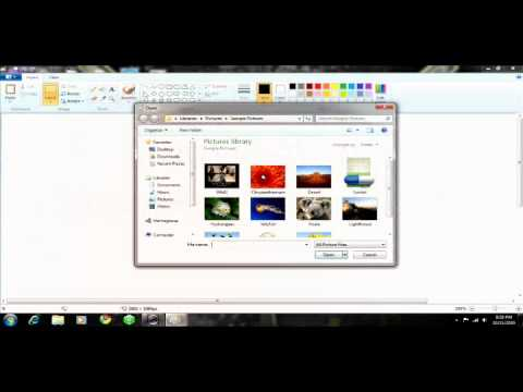 How To Merge 2 Pictures In Ms Paint Windows 7