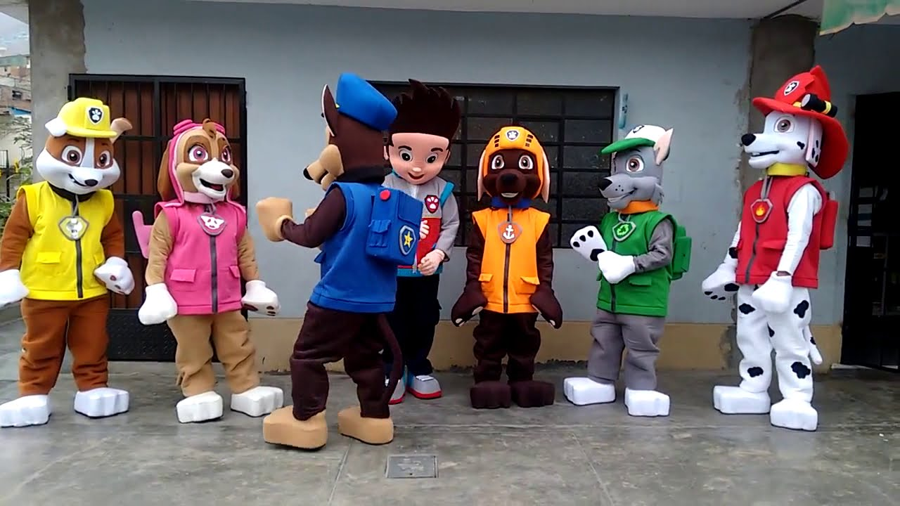 Mascots Costumes Paw Patrol Youtube