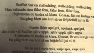 Staffan stalledräng, melodi