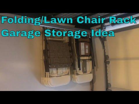 Folding/Lawn Chair Rack Garage Storage Ideas Wall Mounted/Hanging