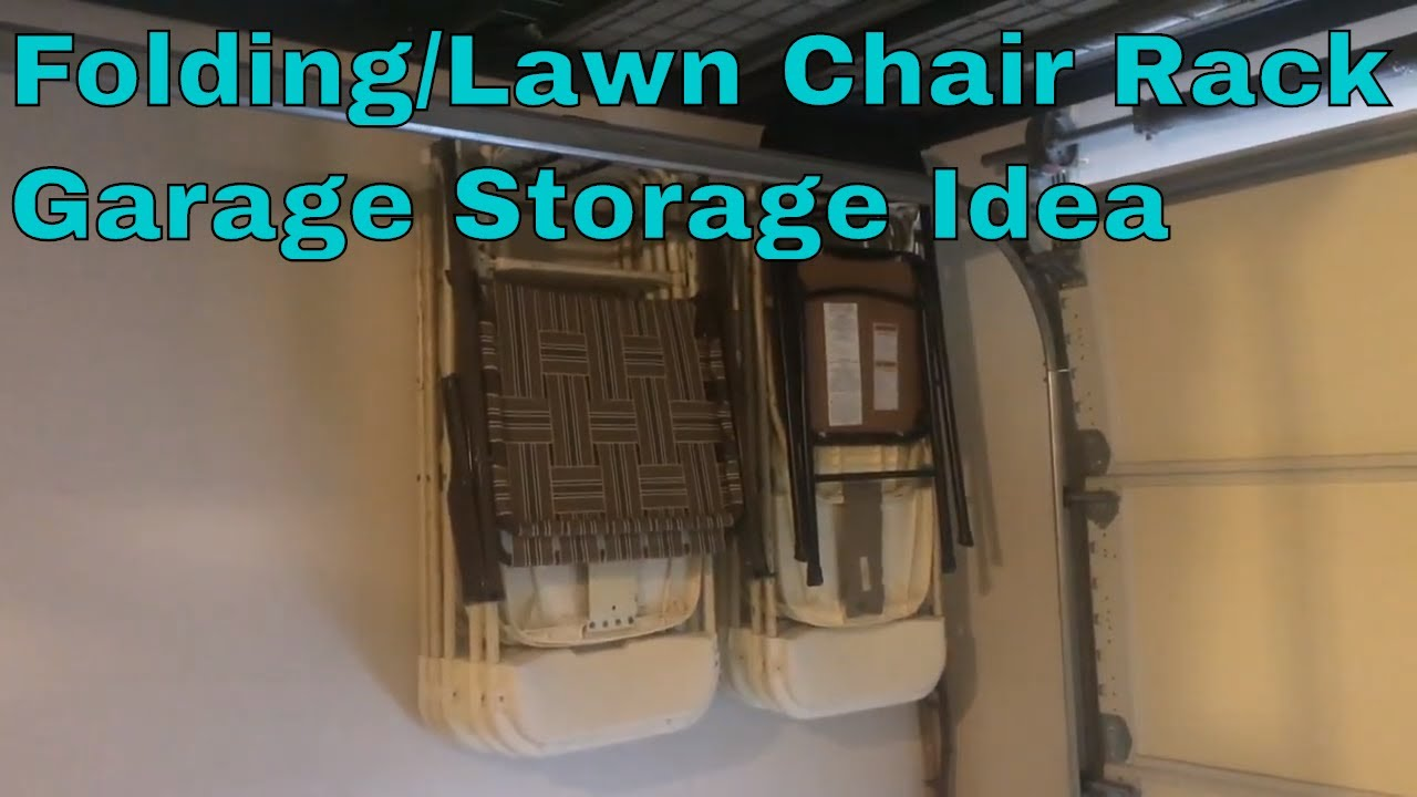 Folding Chair On Amazon Small Office Club Chairs Folding/lawn Rack Garage Storage Ideas Wall Mounted/hanging - Youtube