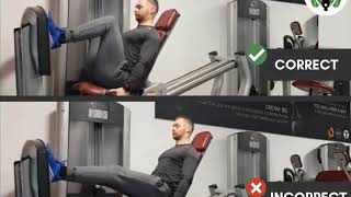 Legpress do's & don'ts
